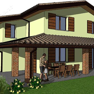 QUINZANO (PR) | Progetto di villa monofamiliare